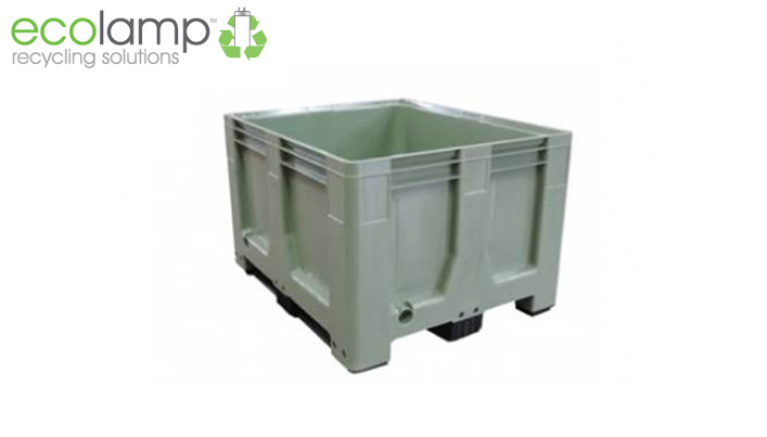 La1309 solid rigid pallet box moulded food grade hdpe recycling weee waste green