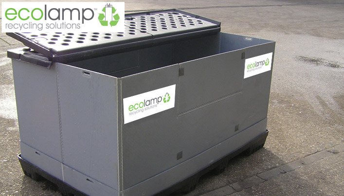 ecolamp recycling solutions pallet box storage solution buy online paypal, fluorescent lamps, high intensity discharge (HID) lamps, linear fluorescent light bulbs and CFLs Compact fluorescent light bulbs.