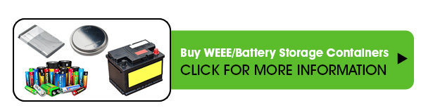 waste disposal battery storage solutions for lithium, nickel, alkaline, cadium and acid lead collection service ECOLAMP UK