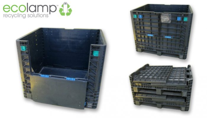 Used Folding Magnum Box M23, WEEE waste storage solutions UK delivery ECOLAMP lamp collection & recycling