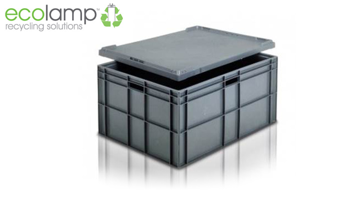 solid stacking box moulded first grade polypropylene storage recycling ecolamp la1055