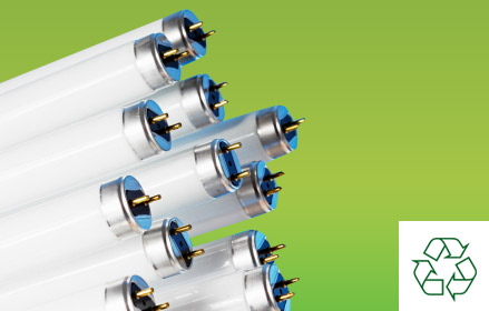 arrange collection waste lamp disposal collection service recycling fluorescent lamps, fluorescent tubes